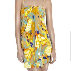 DVF Edythe silk strapless dress